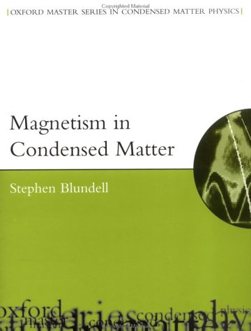 Magnetism in Condensed Matter   2001 edition cover