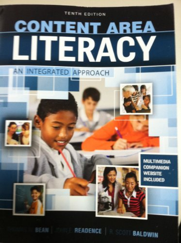 Content Area Literacy An Integrated Approach 10th 2011 (Revised) edition cover