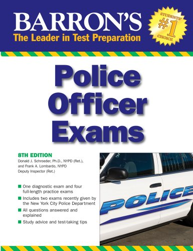 Barron's Police Officer Exam  8th 2009 (Revised) edition cover