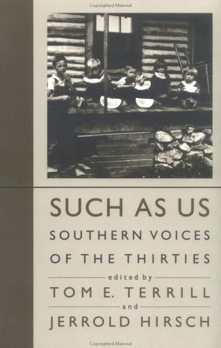 Such As Us Southern Voices of the Thirties  1987 (Reprint) edition cover