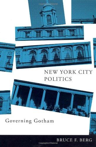 New York City Politics Governing Gotham  2007 edition cover