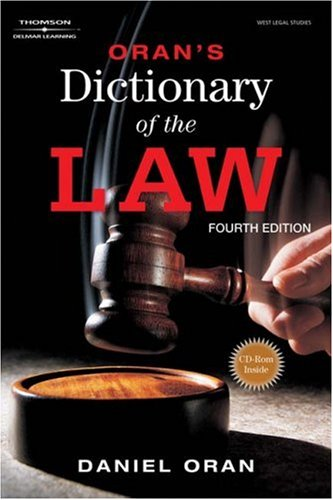 Oran's Dictionary of the Law  4th 2008 (Revised) edition cover