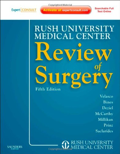 Rush University Medical Center Review of Surgery Expert Consult - Online and Print 5th 2011 edition cover