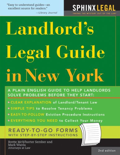 Landlord's Legal Guide in New York  2nd 2007 9781572485914 Front Cover