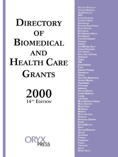Directory of Biomedical and Health Care Grants 2000  14th 2000 edition cover