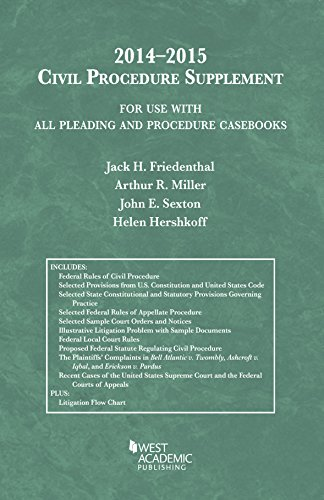 Pleading and Procedure Casebooks:   2014 edition cover