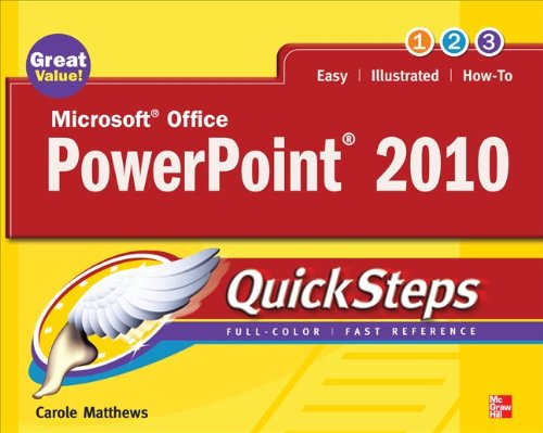 Microsoft Office PowerPoint 2010 QuickSteps  2nd 2010 edition cover