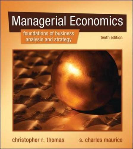 Managerial Economics  10th 2011 edition cover