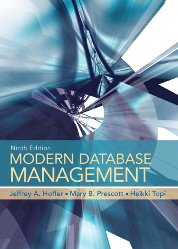 Modern Database Management  9th 2009 edition cover