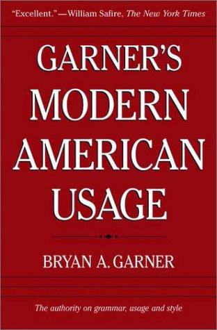 Garner's Modern American Usage  2nd 2003 edition cover