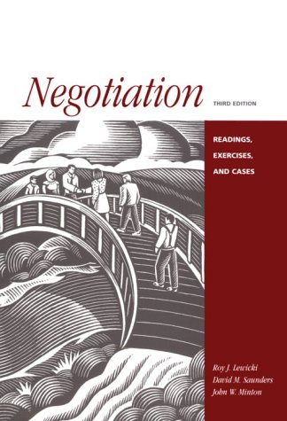 Negotiation Readings, Cases and Exercises 3rd 1999 9780256215915 Front Cover