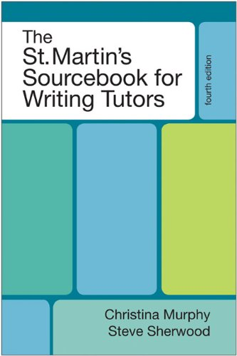 St. Martin's Sourcebook for Writing Tutors  4th 2011 edition cover