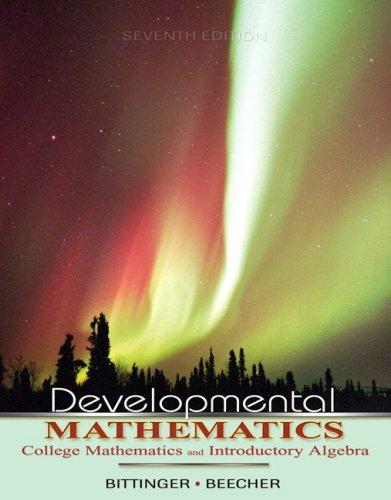Developmental Mathematics College Mathematics and Introductory Algebra 7th 2008 edition cover