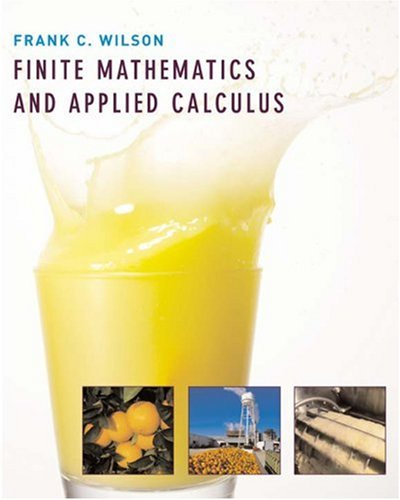 Finite Mathematics and Applied Calculus   2007 edition cover