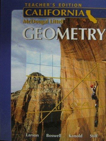 Larson Geometry California: Teacher Edition  2006 9780618811915 Front Cover