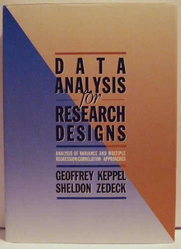 Data Analysis for Research Designs   1989 edition cover