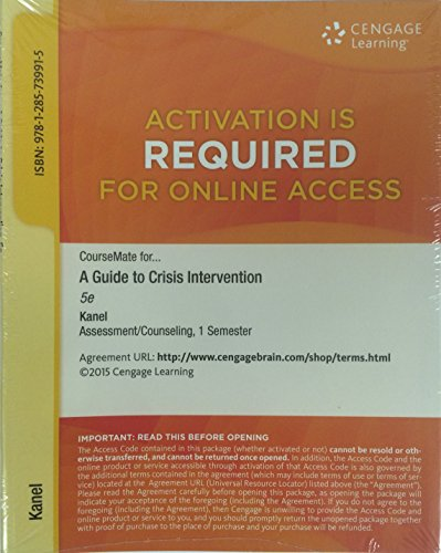 CourseMate for A Guide to Crisis Intervention 1st 9781285739915 Front Cover