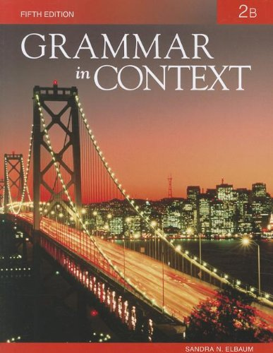 Grammar in Context 2: Split Text B (Lessons 8 - 14)  5th 2010 edition cover