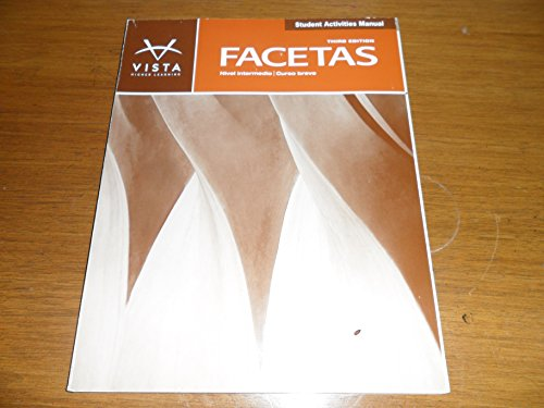 Facetas 3e Student Activities Manual  3rd (Revised) edition cover
