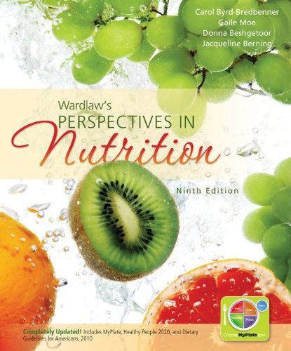 Combo: Wardlaw's Perspectives in Nutrition W/NCP 3. 5 CD  9th 2013 edition cover