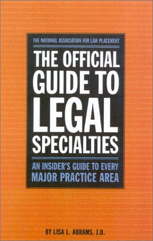 Official Guide to Legal Specialities   1999 edition cover