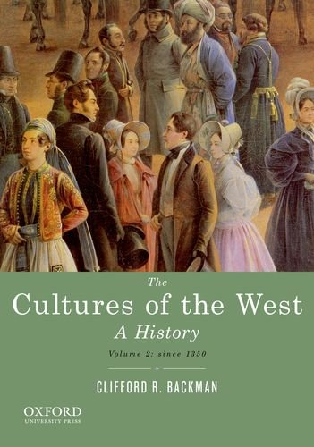 Cultures of the West A History - Since 1350  2013 edition cover