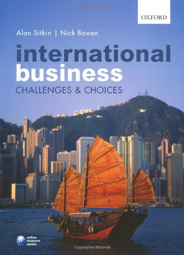 International Business Challenges and Choices  2009 9780199533916 Front Cover