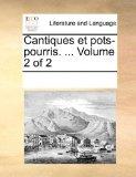 Cantiques et Pots-Pourris N/A 9781170326916 Front Cover