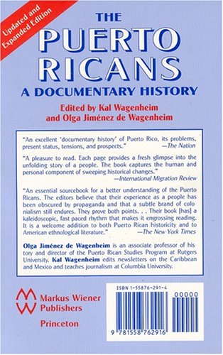 Puerto Ricans A Documentary History  2002 edition cover