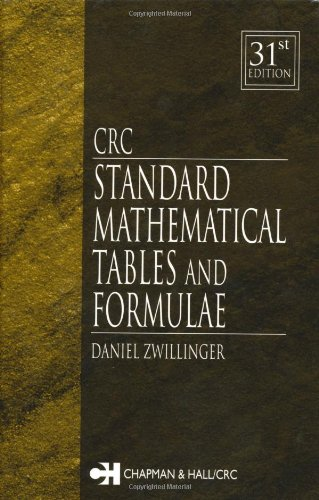 CRC Standard Mathematical Tables and Formulae  31st 2003 (Revised) edition cover