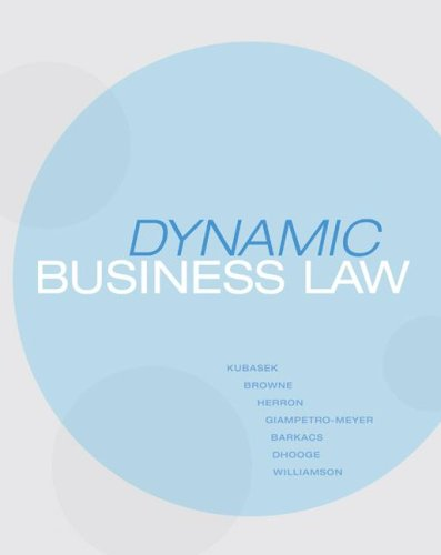 Dynamic Business Law   2009 edition cover