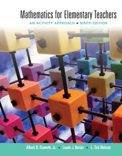 Mathematics for Elementary Teachers An Activity Approach 9th 2012 edition cover