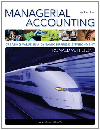 Managerial Accounting  9th 2011 edition cover