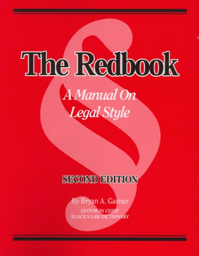 Redbook A Manual on Legal Style 2nd 2006 (Revised) edition cover