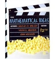 Mathematical Ideas  12th 2012 edition cover