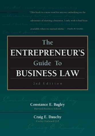 Entrepreneur's Guide to Business Law  2nd 2003 edition cover