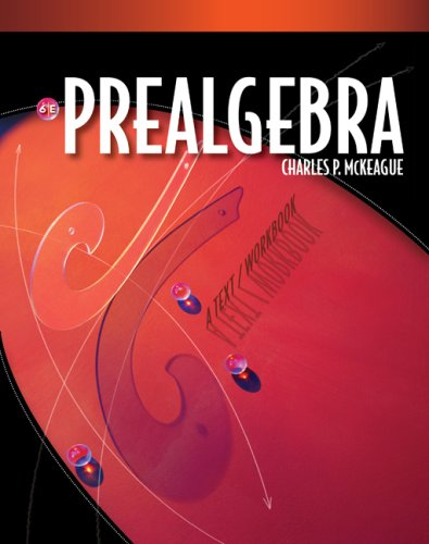 Prealgebra  6th 2010 (Workbook) edition cover