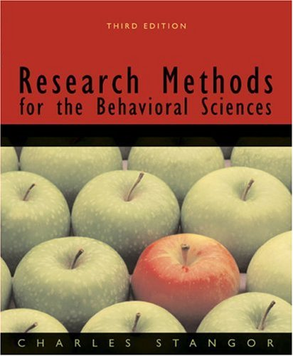 Research Methods for the Behavioral Sciences  3rd 2007 edition cover