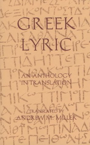 Greek Lyric An Anthology in Translation  1996 edition cover