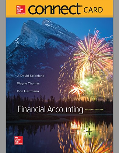 Connect Access Card for Financial Accounting  4th 2016 9781259730917 Front Cover