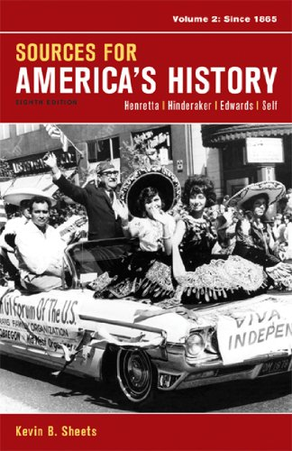 Sources for America's History: Since 1865  2014 edition cover