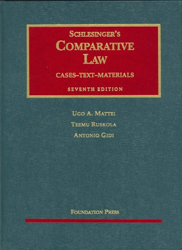 Comparative Law, 7th  7th 2009 (Revised) edition cover