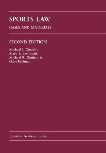 Sports Law Cases and Materials 2nd 2007 edition cover
