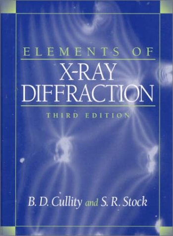 Elements of X-Ray Diffraction  3rd 2001 edition cover
