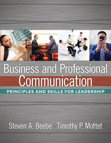 Business and Professional Communication   2010 edition cover