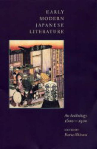 Early Modern Japanese Literature An Anthology, 1600-1900  2004 edition cover