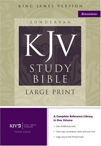 Zondervan King James Study Bible   2002 edition cover