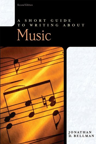 Short Guide to Writing about Music  2nd 2007 edition cover