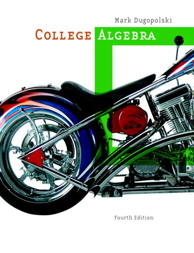 College Algebra  4th 2007 (Revised) edition cover