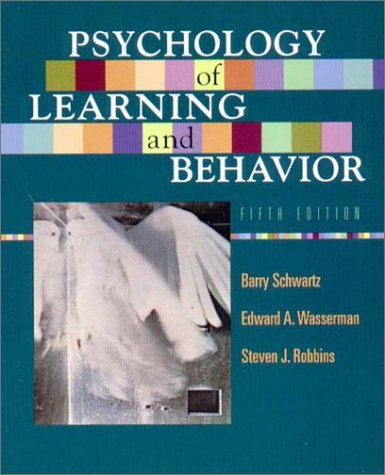 Psychology of Learning and Behavior  5th 2002 edition cover